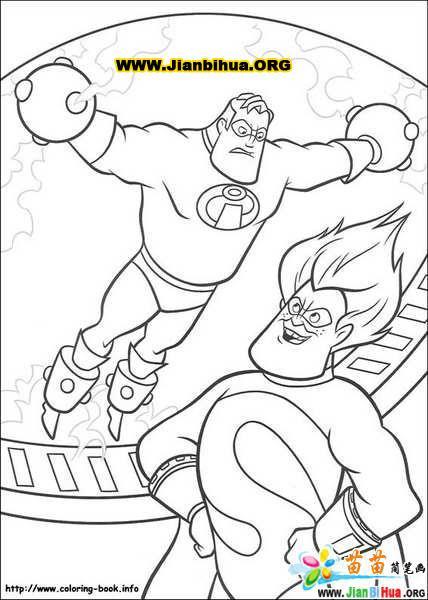 迪斯尼之 超人 总动员 简笔画 24张第2张图片
