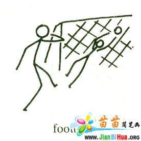 小学四年级英语简笔画之运动篇6张 第6张