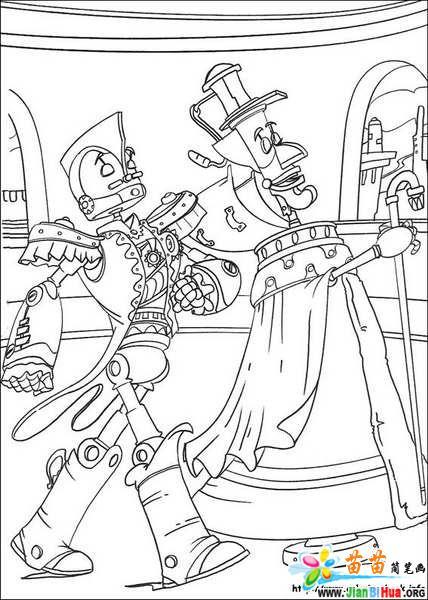 迪斯尼之机器人的简笔画18张图片 第3张