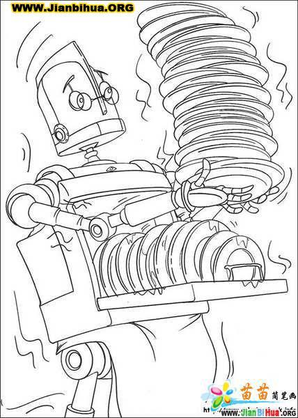 迪斯尼之机器人的简笔画18张图片 第2张