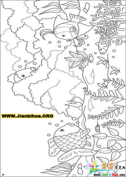 迪斯尼之小鲤鱼简笔画图片13张