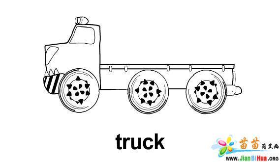 运输工具简笔画――货车