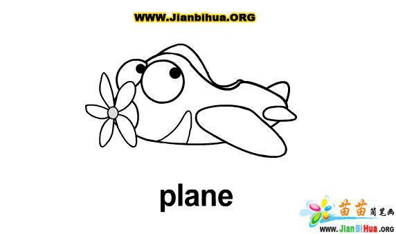 关于飞机的简笔画9张