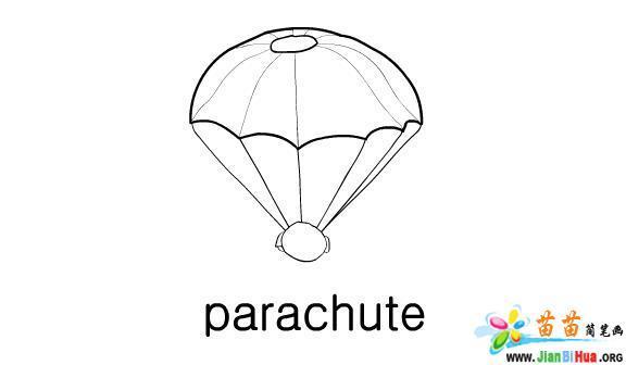 运动工具简笔画——降落伞