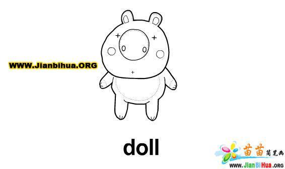玩具娃娃简笔画作品