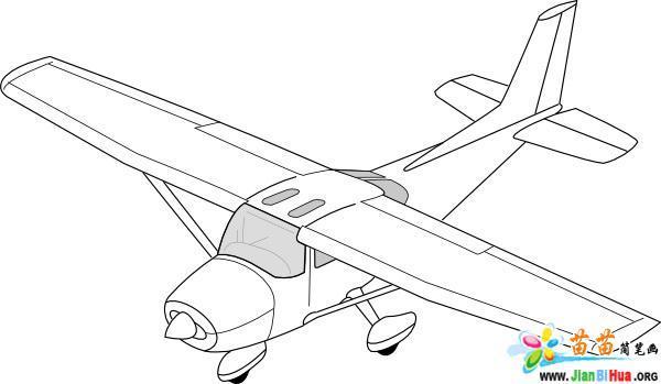 飞机简笔画的画法图片9张