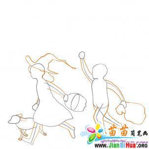 关于万圣节的场景简笔画8张 第2张
