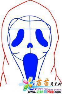 如何画万圣节的鬼脸简笔画教程作品5张 第4张