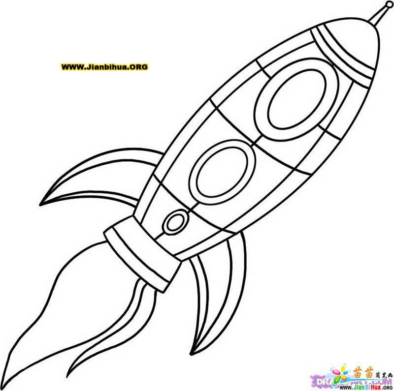 太空宇宙飞船简笔画12张