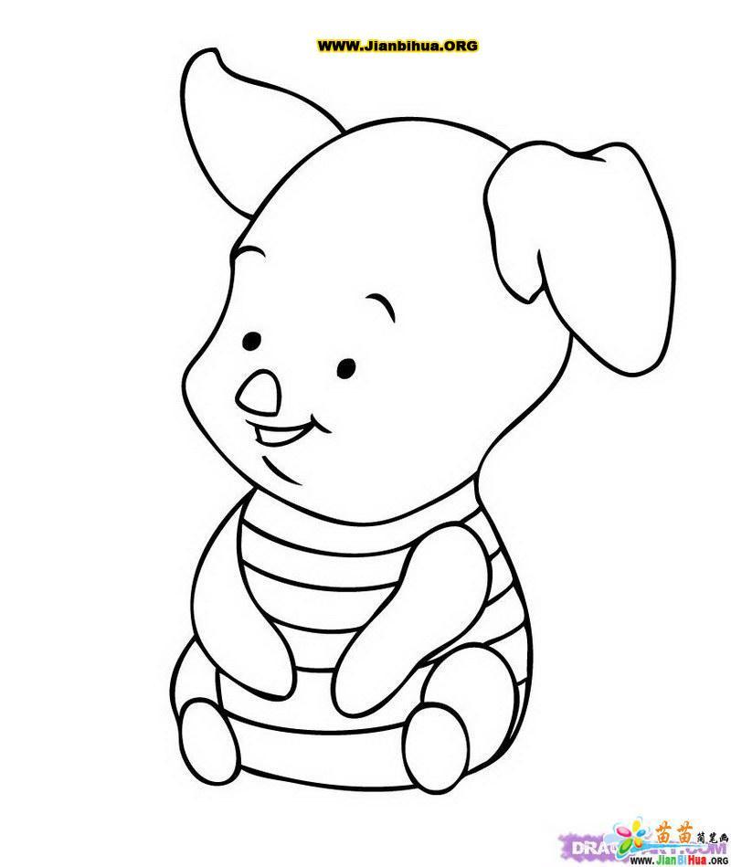 小猪简笔画图片作品