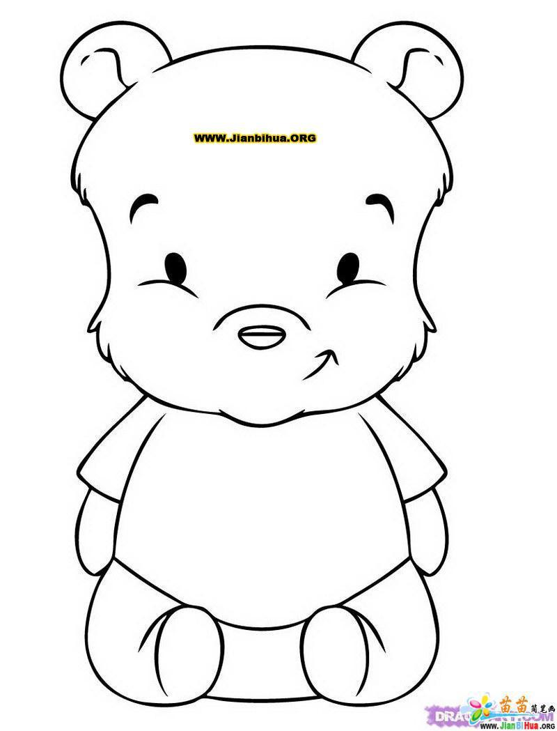 小熊维尼简笔画图片