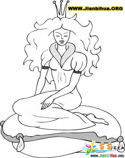 公主简笔画15张图片