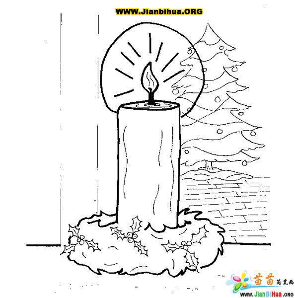 卡通蜡烛简笔画作品18张第17张
