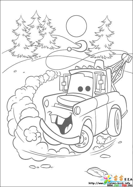 汽车总动员涂色卡图片99张(第41张)