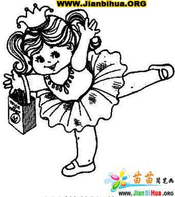 跳舞简笔画图片9张 第8张