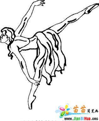 跳舞的人的手绘