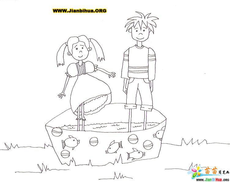 怎样画孔雀简笔画 - 动物类儿童简笔画