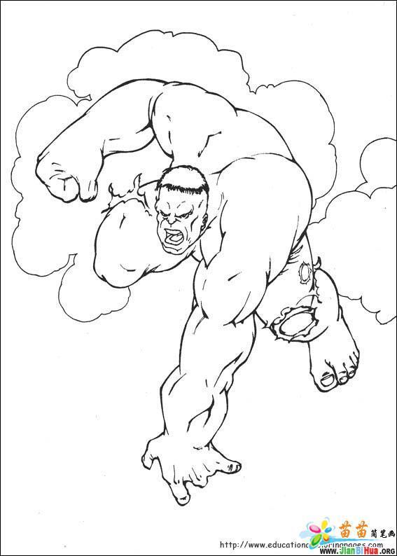 绿巨人卡通简笔画10张 第2张