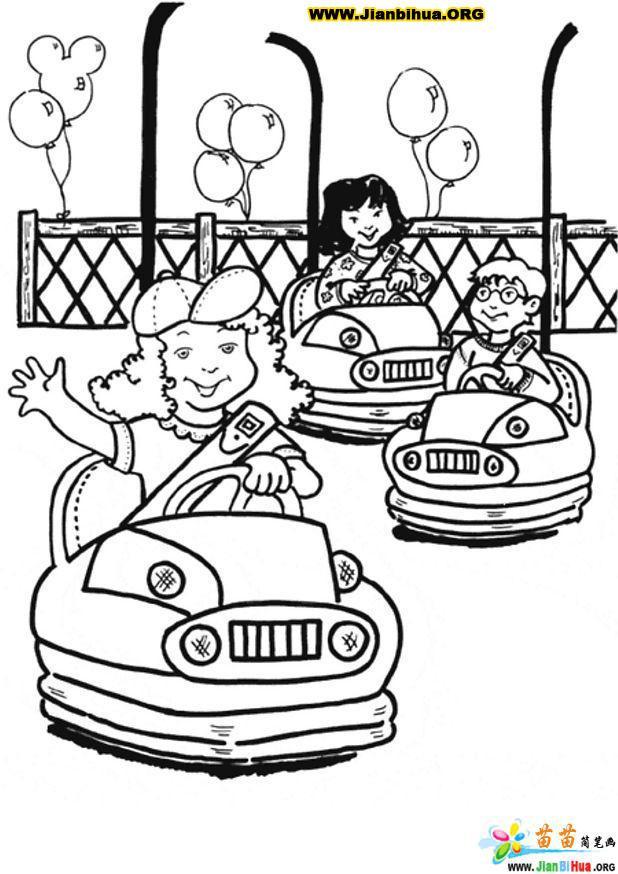 幼儿游乐场简笔画