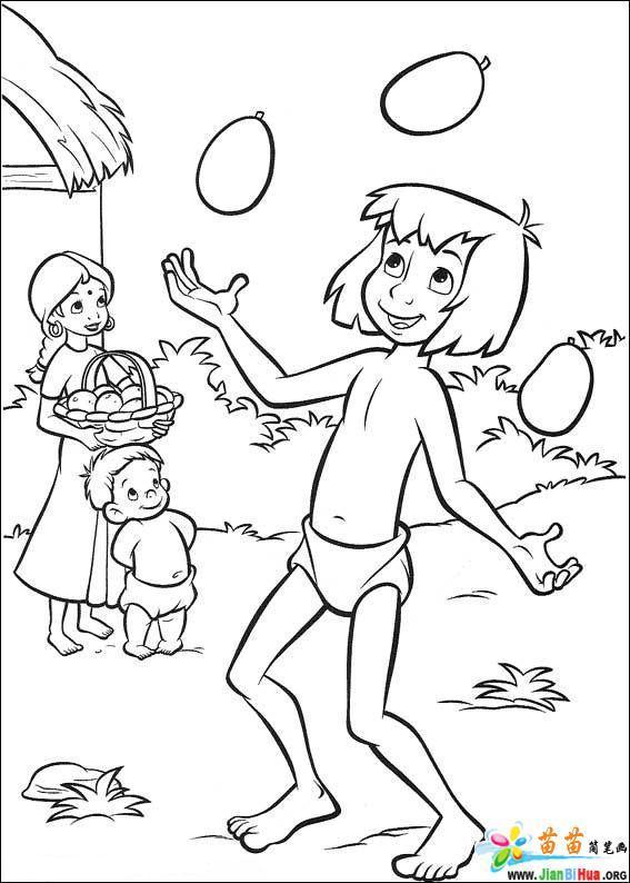 森林王子涂色卡22张图片 第5张