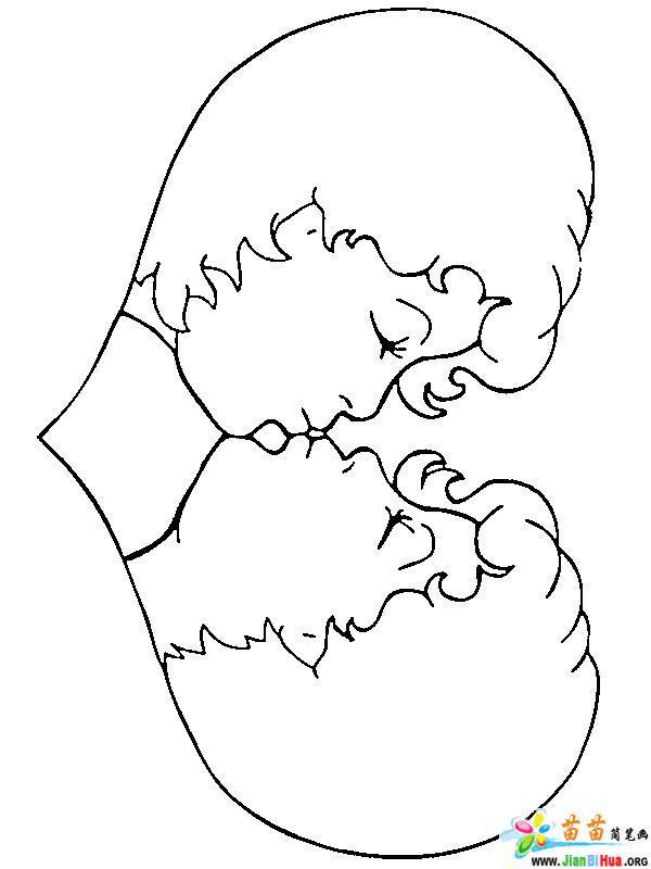 爱情与结婚主题简笔画34张 第29张