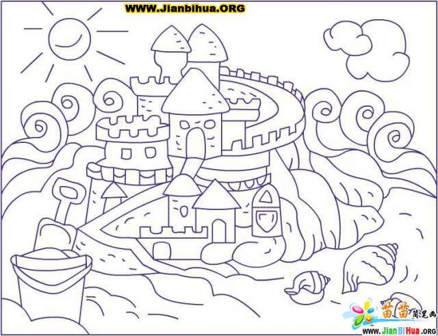 沙雕简笔画的画法13张 第6张
