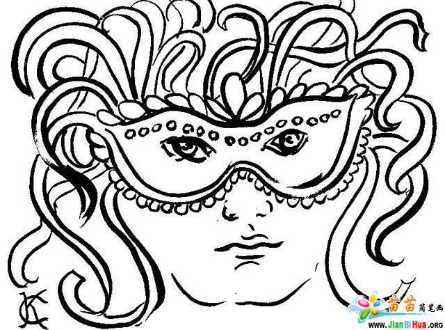 国外节日狂欢节简笔画图片(第4张)