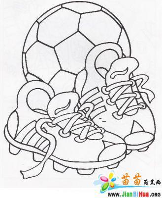 运动简笔画图片 踢足球7张第4张