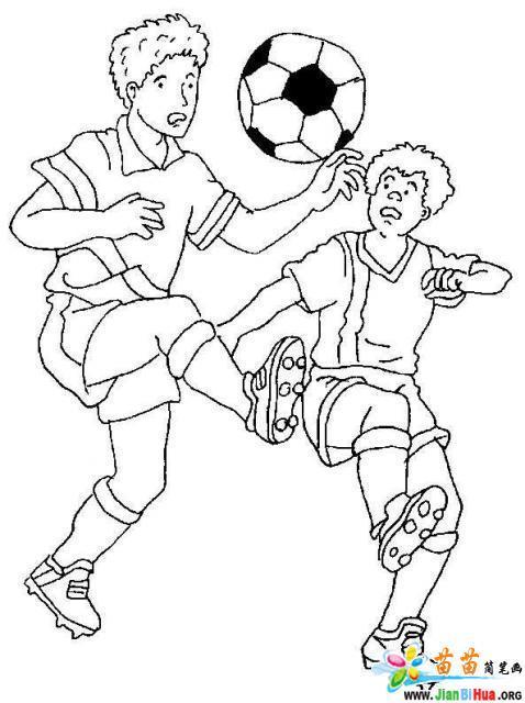 运动简笔画图片--踢足球7张(第6张)