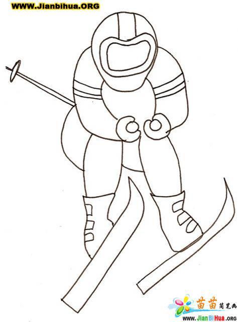 滑雪运动简笔画7张 第6张