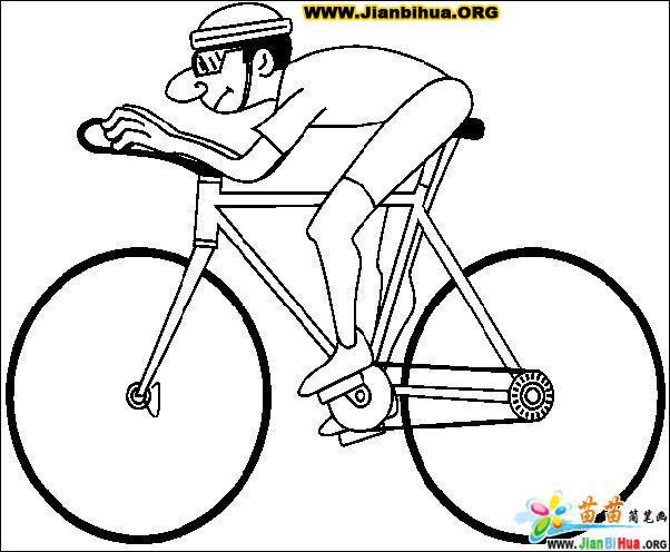 骑自行车简笔画6张