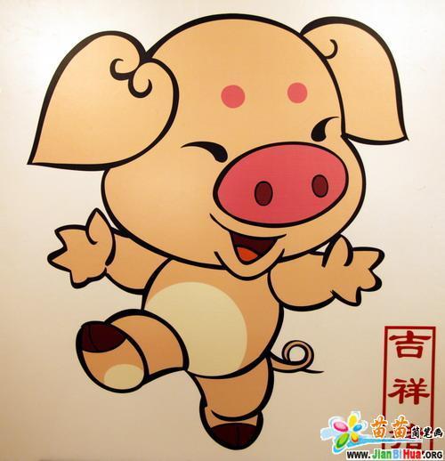 彩色可爱动物简笔画