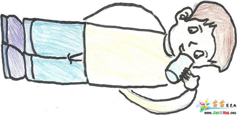喝水简笔画 洗手简笔画 上厕所简笔画日常行为图片 第2张图片