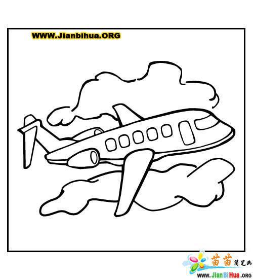 关于飞机的简笔画9张(第2张)