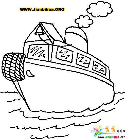 小船简笔画12张图片 第5张
