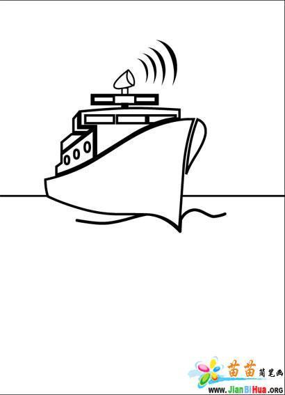 小船简笔画12张图片 第8张
