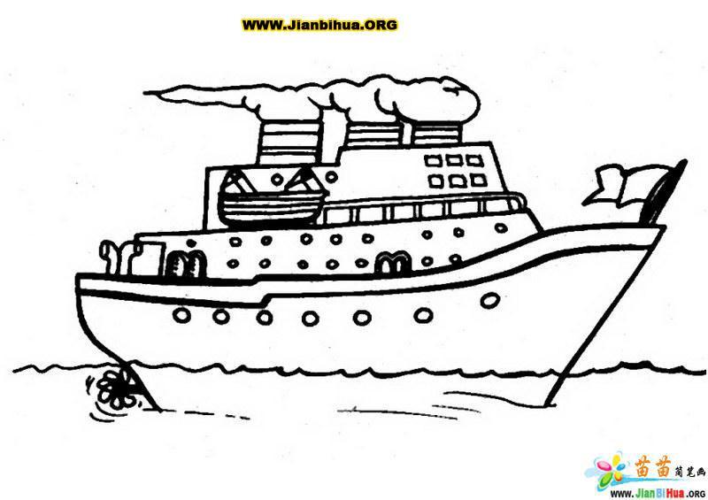 船的简笔画图片教程12张 第2张