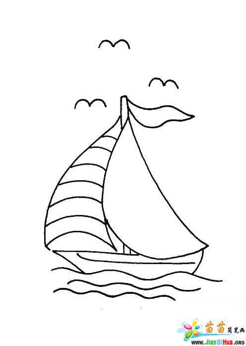 船的简笔画图片教程12张第5张