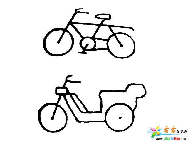 自行车简笔画图片4张 第5张