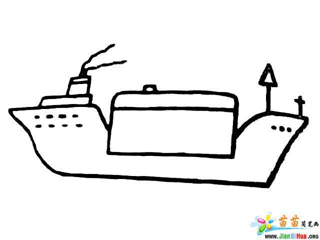 大轮船简笔画图片6张