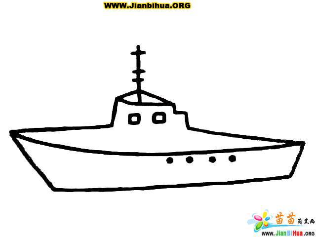 大轮船简笔画图片6张(第5张)