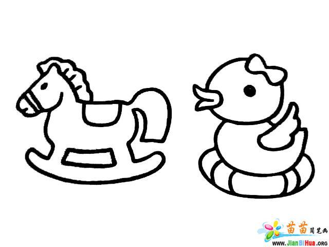 小鸭子简笔画 木马简笔画 机器人简笔画 第2张