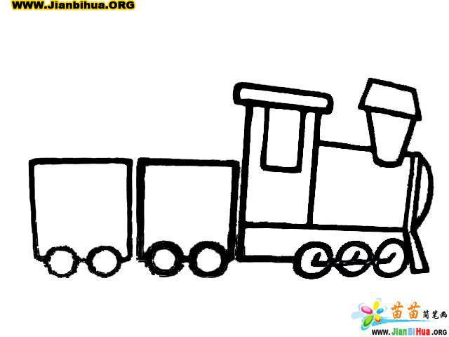 玩具小娃娃简笔画_小火车简笔画
