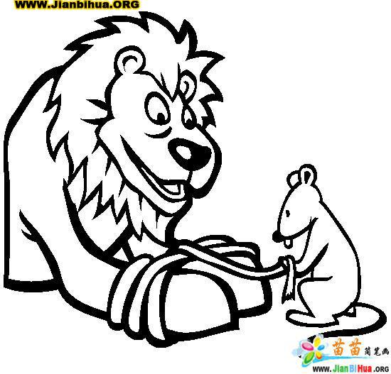 the lion and the mouse coloring pages - free coloring pages of lion and the mouse story