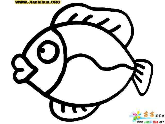 鱼形图案简笔画的画法图片