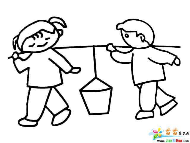 六一儿童节简笔画2张图片