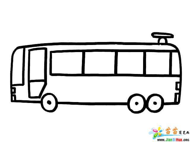 小轿车简笔画 货车简笔画 电车简笔画 小帆船简笔画图片作品 第3张