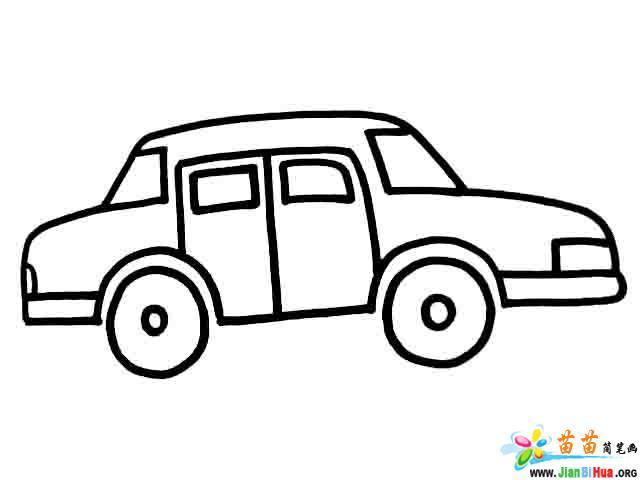 小轿车简笔画 货车简笔画 电车简笔画 小帆船简笔画图片作品