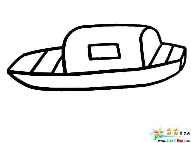 客船简笔画 游艇简笔画 鱼船简笔画 吊车简笔画