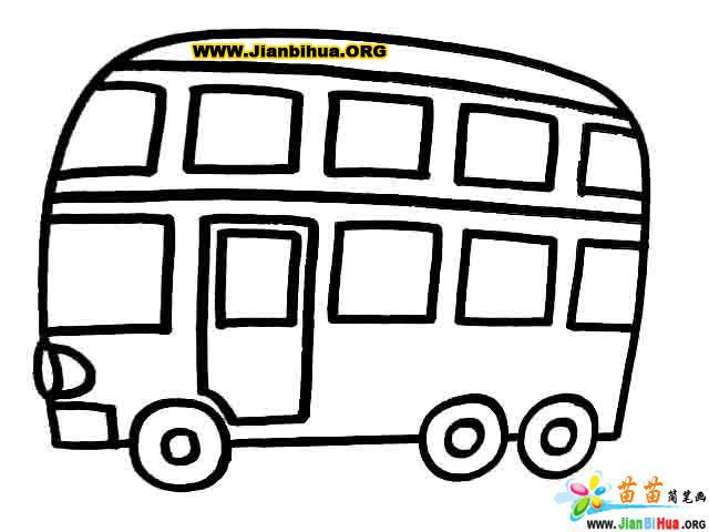 救护车简笔画 叉车简笔画 巴士简笔画 摩托车简笔画作品 第3张